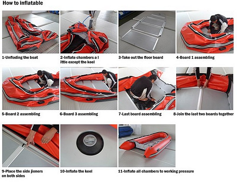 Below Arethe Steps For Assembly Inflatable Boat With