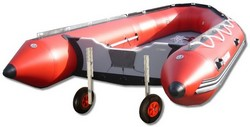 Inflatable boat dinghy wheel